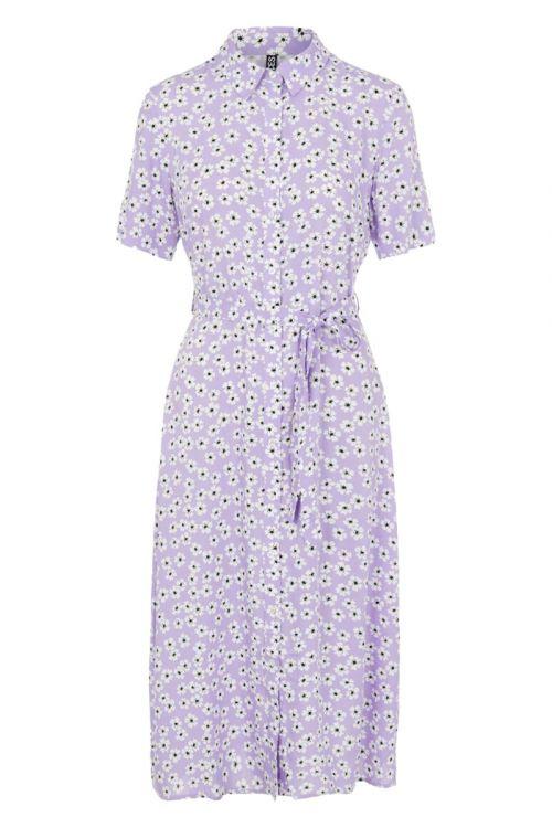 Pieces - Kjole - PC Maiken SS Midi Shirt Dress - Orchid Bloom