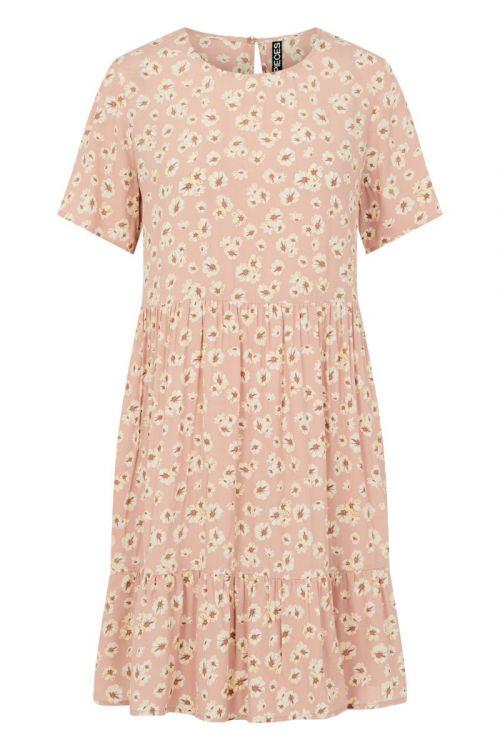 Pieces - Kjole - PC Miller SS Dress - Misty Rose