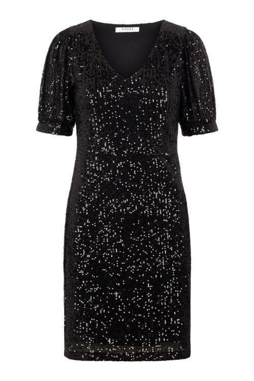 Pieces Kjole PC Mindy SS Dress Black Front