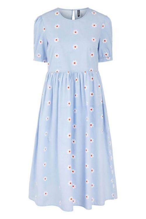 Pieces - Kjole - PC Nikki SS Midi Dress - Kentucky Blue