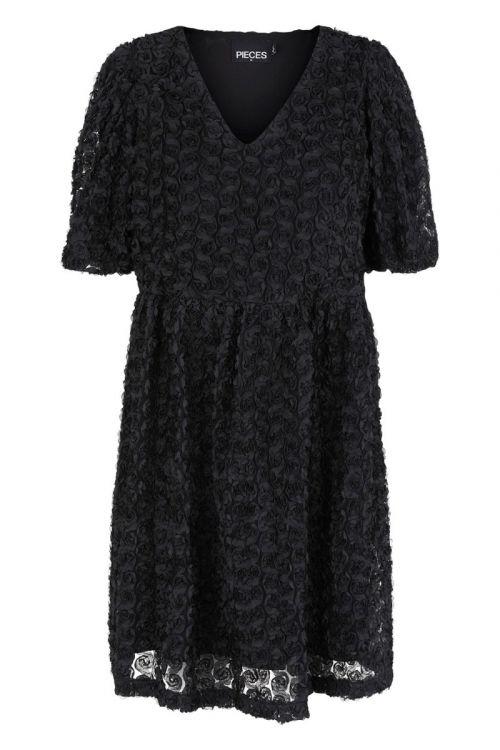 Pieces - Kjole - Nolia SS Dress - Black (Levering i november)