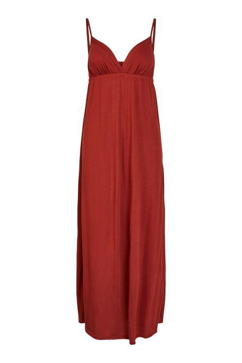 Pieces Kjole PC Nurine Strap Ankle Dress Burnt Henna Front