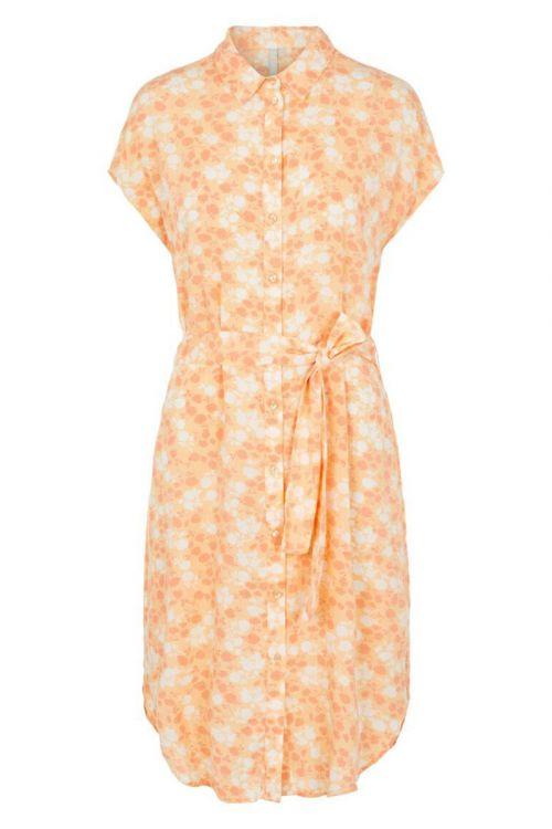 Pieces  Kjole  PC Nya SS Shirt Dress  Apricot Cream/FLW Front