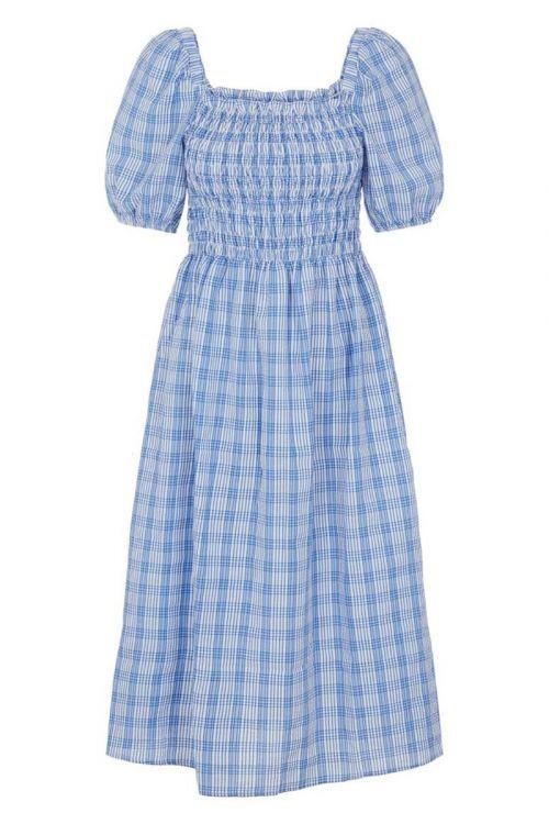 Pieces - Kjole - Olina SS Midi Dress - Star Sapphire