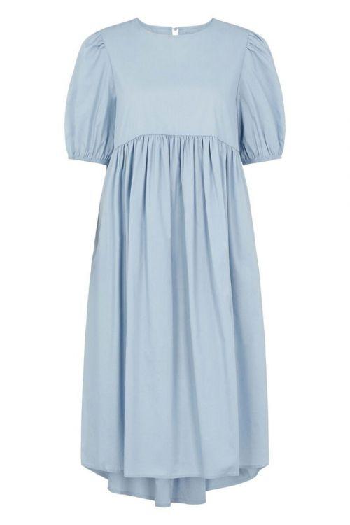 Pieces - Kjole - PC Olivia 2/4 Midi Dress - Blue Fog
