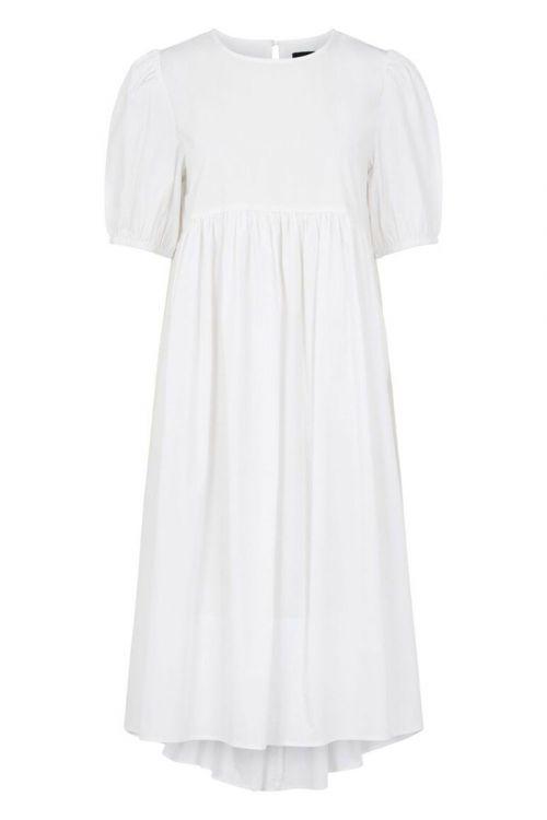Pieces - Kjole - PC Olivia 2/4 Midi Dress - Bright White