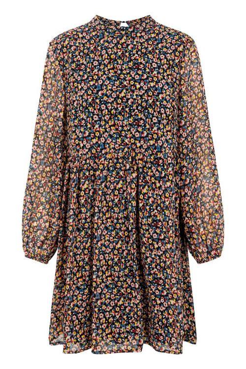 Pieces Kjole PC Macya LS Dress Black/Misty Rose Front