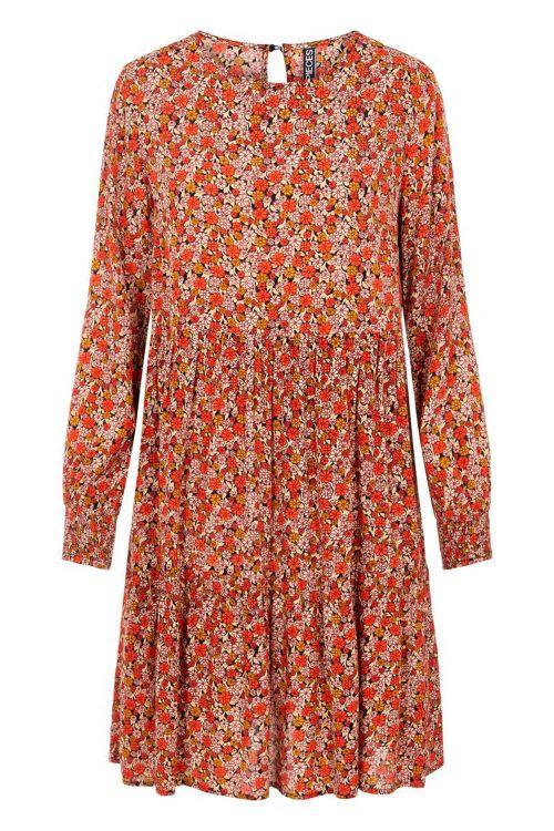 Pieces Kjole PC Rie LS Dress Cherry Tomato Front