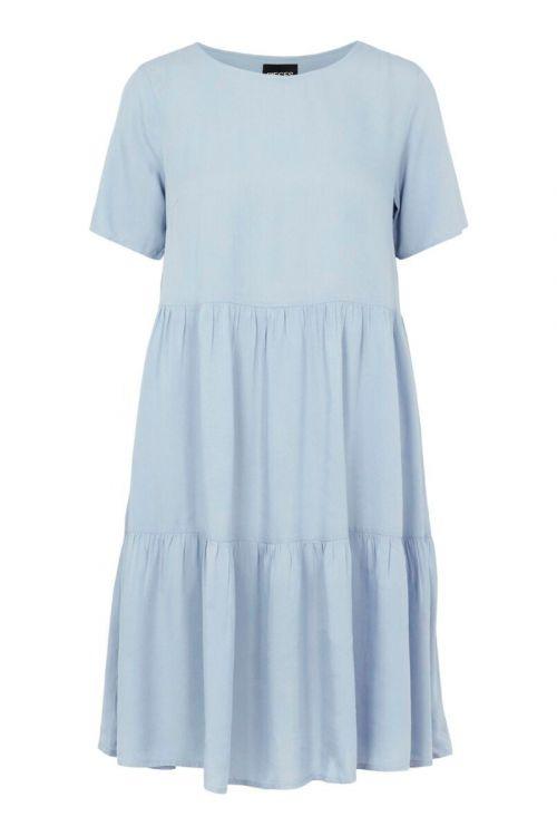 Pieces - Kjole - PC Voluma SS Dress - Kentucky Blue