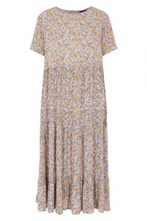 Pieces - Kjole - Rilla SS Midi Dress - Dahlia Purple