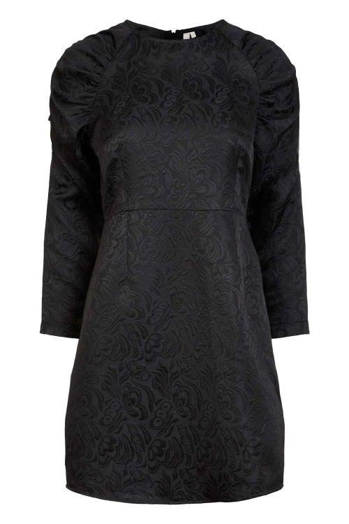 Pieces Kjole PC Rustine LS Dress Black Front