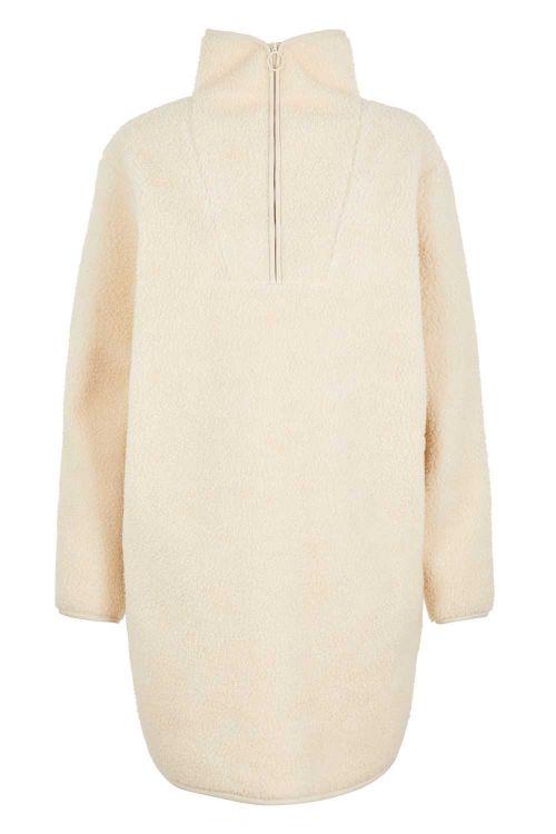 Pieces Kjole PC Sadie Teddy LS Dress Whitecap Gray Front