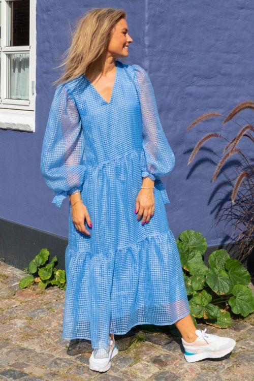 Pieces Kjole Sahanna LS Midi Dress Little Boy Blue Hover
