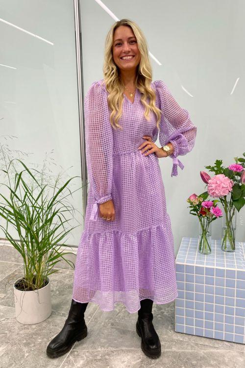 Pieces - Kjole - Sahanna LS Midi Dress - Purple Rose