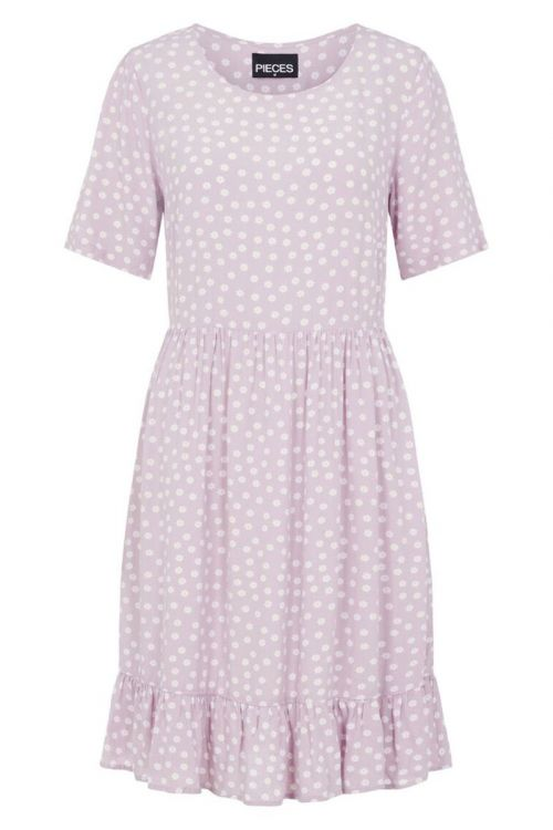 Pieces Kjole Selma SS Dress Orchid Bloom Front