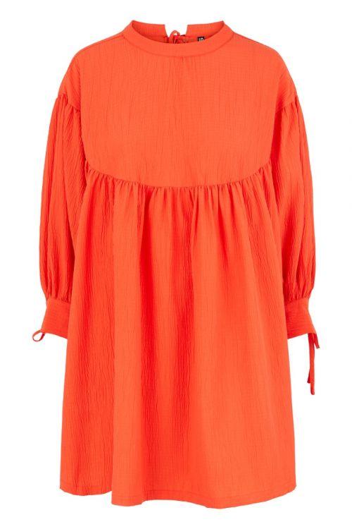 Pieces - Kjoler - Sille Dress - Cherry Tomato (I oktober)