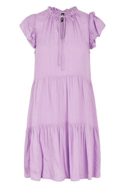 Pieces - Kjole - PC Teresa SL Dress - Sheer Lilac