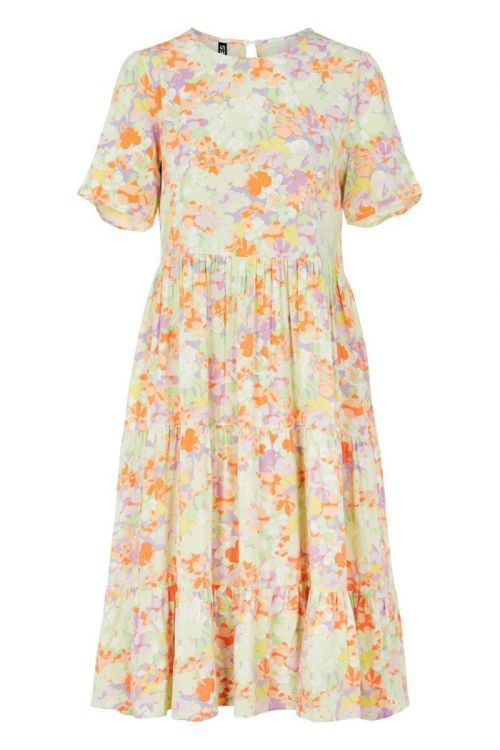 Pieces - Kjole - PC Tina SS Midi Dress - Jade Lime