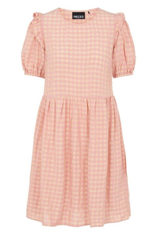 Pieces - Kjole - Vilja SS Dress - Candy Pink
