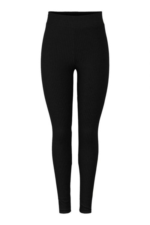 Pieces Leggings PC Ribbi HW Leggings Black Front