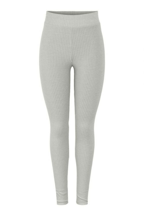 Pieces Leggings PC Ribbi HW Leggings Light Grey Melange Front