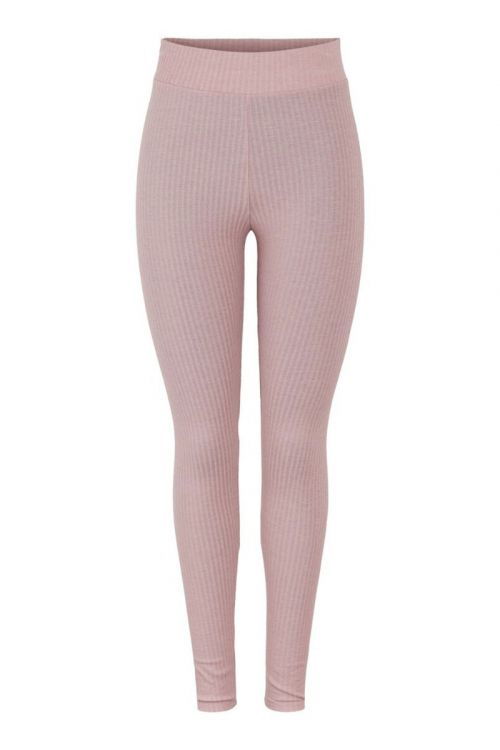 Pieces Leggings PC Ribbi HW Leggings Misty Rose Front