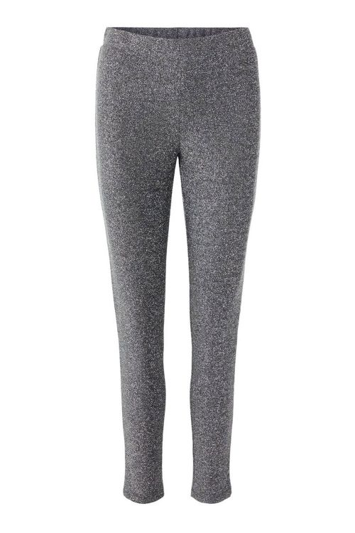 Pieces Leggings PC Rina MW Legging Silver Colour Front