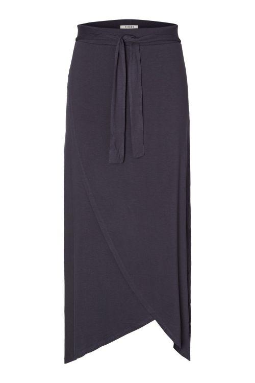 Pieces Nederdel PC Elonora HW Midi Wrap Skirt Navy Blazer Front
