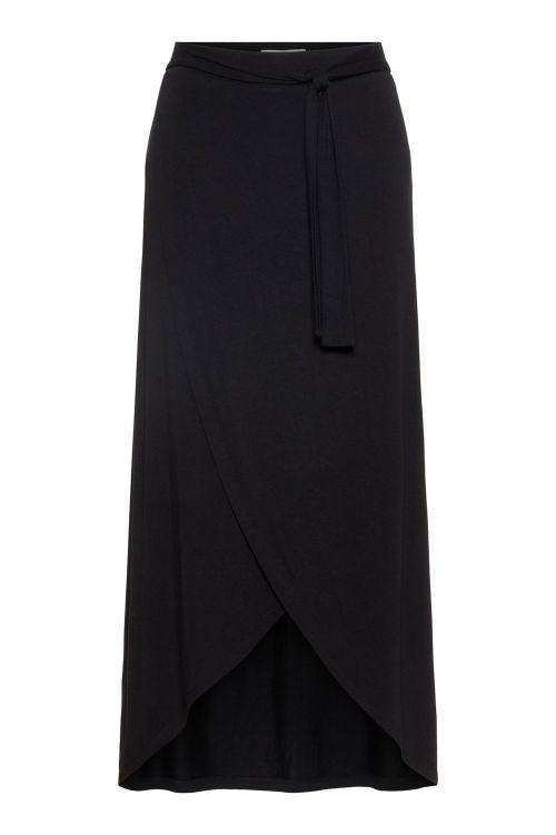 Pieces Nederdel PC Elonora HW Midi Wrap Skirt Black Front