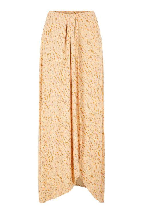 Pieces Nederdel PC Maryjane HW Maxi Skirt Warm Sand/Rainbox Front