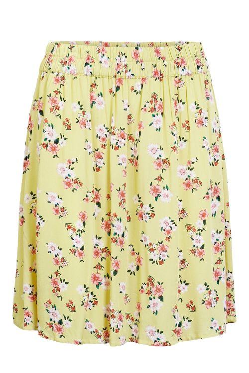 Pieces - Nederdel - PC Nya MW Skirt - Lemon Drop