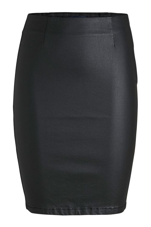 Pieces Nederde PC Paro HW Coated Skirt Black Front