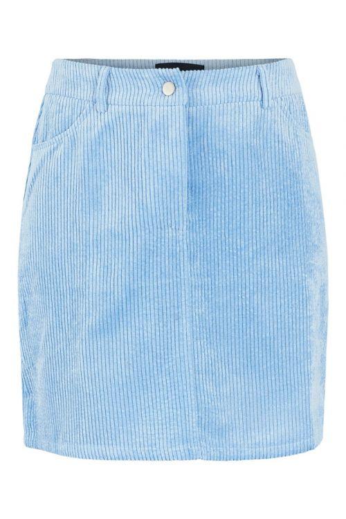 Pieces - Nederdel - PC Steffi HW Corduroy Skirt - Little Boy Blue