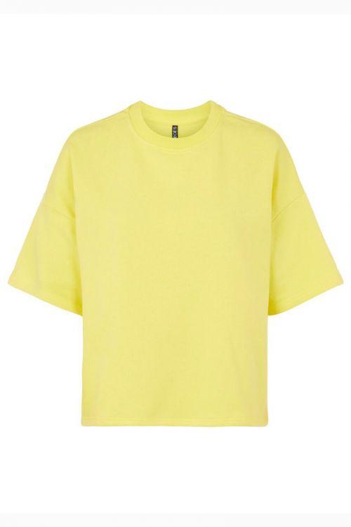 Pieces - T-shirt - PC Chilli Summer 2/4 Loose Sweat - Celandine
