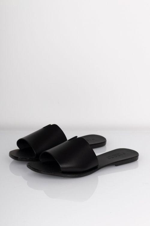 Pieces - Sandal - Nora Leather Sandal - Black