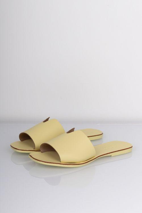 Pieces - Sandal - Nora Leather Sandal - Pale Banana