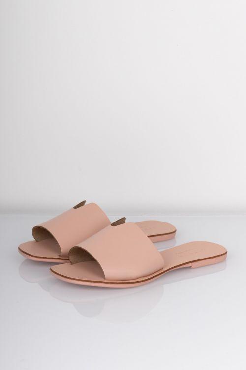 Pieces - Sandal - Nora Leather Sandal - Rose Cloud