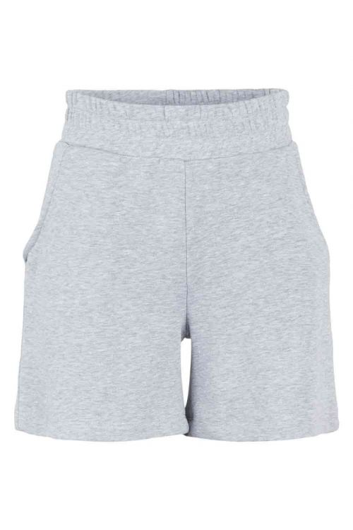 Pieces Shorts PC Liola HW Sweat Shorts Lounge Light Grey Melange Front