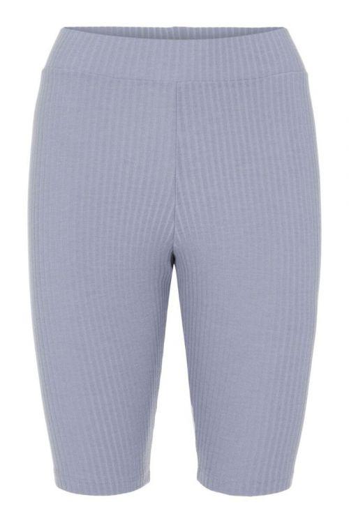 Pieces - Shorts -  PC Ribbi HW Bike Shorts - Blue Fog
