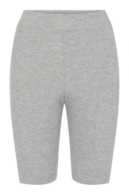 Pieces - Shorts - PC Ribbi HW Bike Shorts - Light Grey Melange