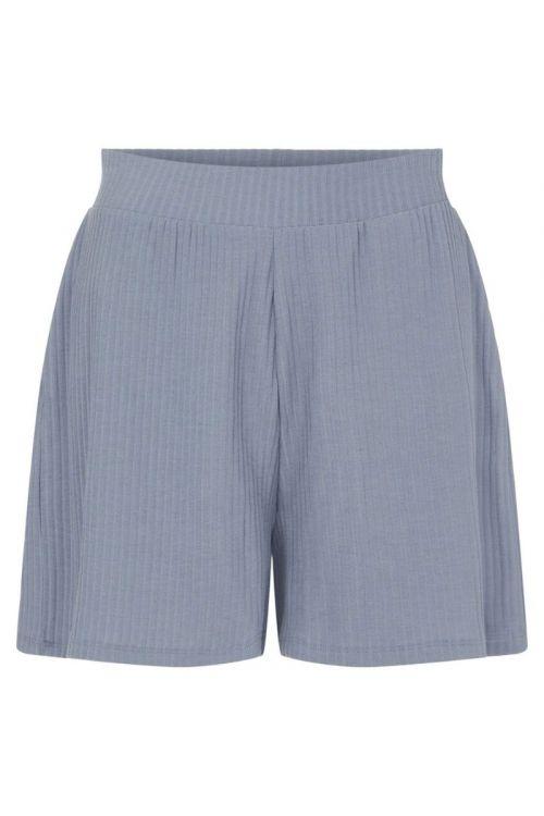 Pieces - Shorts - Ribbi HW Shorts - Blue Fog
