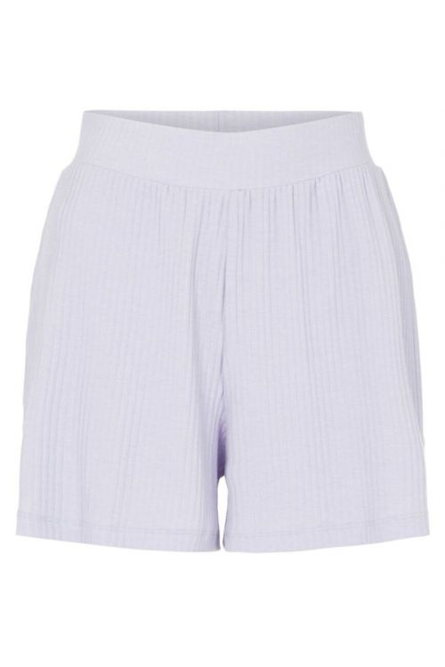 Pieces - Shorts - Ribbi HW Shorts - Purple Heather