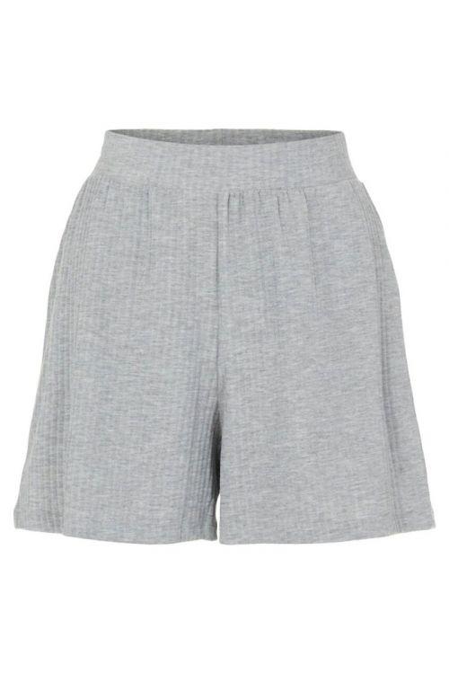 Pieces - Shorts - Ribbi HW Shorts - Light Grey Melange