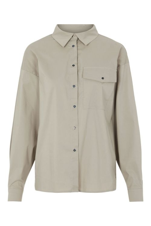 Pieces - Skjorte - PC Apylla LS Shirt - Silver Mink