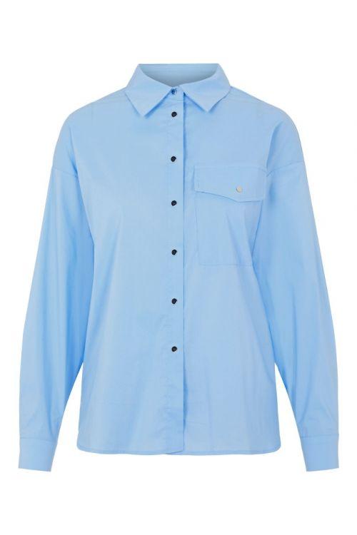 Pieces - Skjorte - PC Apylla LS Shirt - Persian Jewel