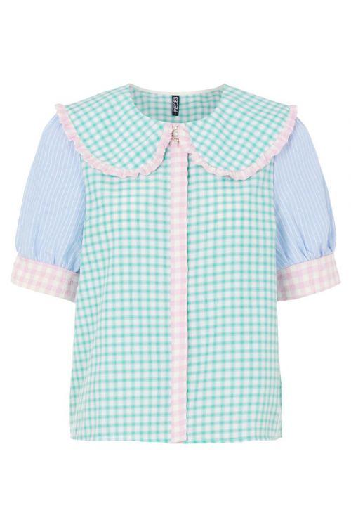 Pieces - Skjorte - PC Bessie 2/4 Shirt - Kentucky Blue