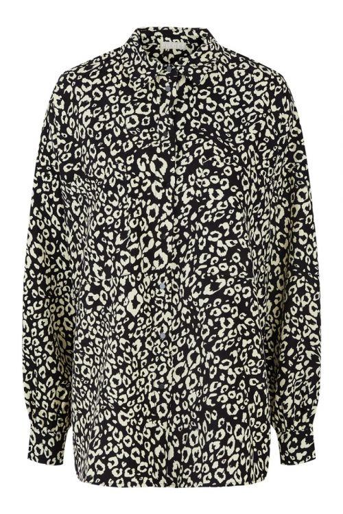 Pieces - Skjorte - PC Makuna LS Oversized Shirt - Black