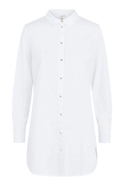 Pieces - Skjorte - PC Noma LS Long Shirt - Cloud Dancer