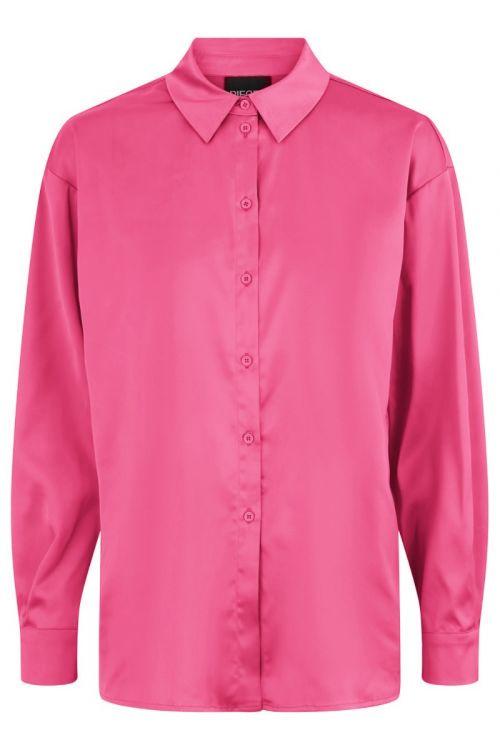 Pieces - Skjorte - Nora LS - Fruit Dove (Levering i november)