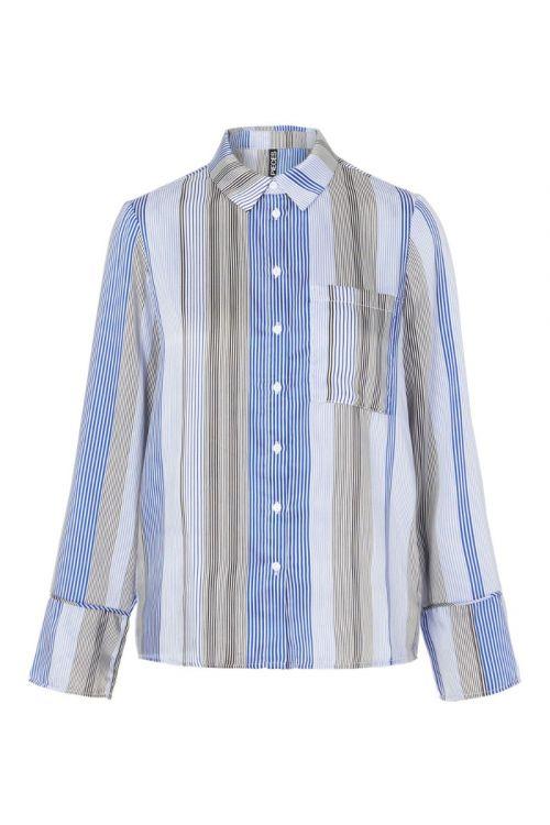 Pieces - Skjorte - PC Sienna LS Shirt - Deep Ultramarine